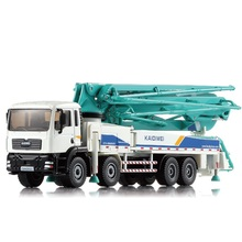 Collection Engineering Vehicles Alloy Car Series 1:55 Cement Concrete Pump Truck Model Toys Car For Boy Gift Free Shipping