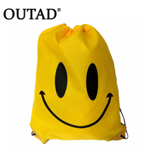 OUTAD Swimming bags Drawstring Beach Bag Sport Gym Waterproof Backpack Swim Dance Double Layer Drawstring Gym Drop Shipping(China)
