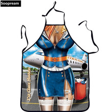 3d print Sexy Cooking Aprons Funny Novelty BBQ Party Apron Naked Men Women Lovely Rude Cheeky Kitchen Cooking Apron Multicolor