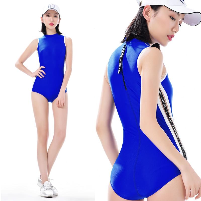 2018 One Piece Solid Women Sport Swimwear Sexy Push Up Surfing Suit Ladies Beach Wear Bodysuits Rashguards Maillot De Bain Femme<br>