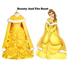 Beauty and the Beast princess Belle cloak Halloween costumes for adult women princess cloak fancy cosplay accessory cloak