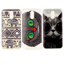 Cartoon Soft TPU Case For Moto G 4 Play Painted Cat Elephant Case For Motorola Moto X Play G4 G 4 Plus G4 Play Protective Coque