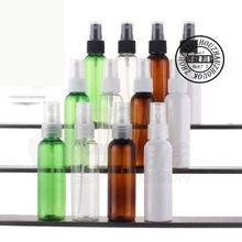 50 X60ml empty multicolor  plastic spray bottle  ,2oz round cosmetic packaging plastic fine Mist spray bottle container