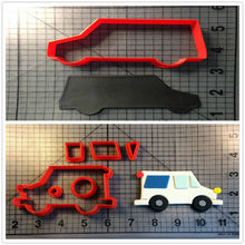Custom Made 3D Printed Traffic Tools Mail Truck Cake Decorating Tools Cookie Cutter Set
