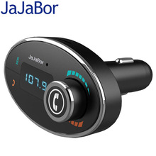 JaJaBor Mini Bluetooth FM Transmitter MP3 Music Player Car Kit Handsfree Phone Calls 5V 2A USB Charger for Iphone and Android