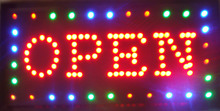 Hot sale Animation led sign Open neon light for bar Open led display signs 48cm*25cm(China)