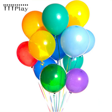 Buy 50PCS Wedding Decoration Balloons 10 Inch 1.5g Colorful Latex Balloons Inflatable Air Balloons Children Birthday Party Balloons for $3.88 in AliExpress store