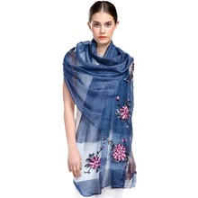 2017 Women's Silk and Wool Scarf Hand Embroider Cashmere Shawls  Lace Scarf Long Soft Shawl Stole cheap hot sale