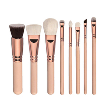 8pcs professional makeup brushes sets & tools eyeshadow blusher powder fundation eyeliner Mask Nail oil brush Synthetic Hair(China)