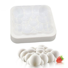 White Bubbles Cloud Shape Silicone Cake Mould 3D Moulds Dessert Mousse Baking Tools