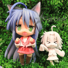 "Free Shipping Cute 4"" Nendoroid Lucky Star Konata Izumi Boxed 10cm PVC Action Figure Collection Model Doll Toy Gift #27"