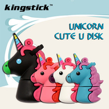 New Unicorn usb Flash Drive 64GB cartoon flash drive memory stick 4GB 8GB 16GB 32GB Pen Drive toy u disk pendrive