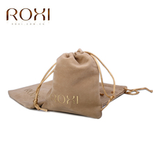 ROXI Velvet Gift Bag Pouches for Necklace Bracelet Earring Rings Fashion Handmade Jewelry Packaging 110mm*105mm(China)