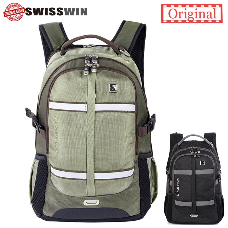 Swisswin swiss 15 16 17 inch laptop backpack big capacity men military bag travel bag school mochila for Teenage Boy<br>