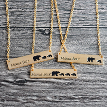 QIHE JEWELRY Bar Necklace Mama Bear Necklace New Mom Necklace Gifts For Mom Gift For Wife Mother's Day Personalized Jewelry