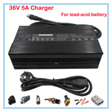 240W 36V 5A lead-acid battery charger 36V electric bike e-scooter charger wheelchair charger golf cart charger free shipping(China)