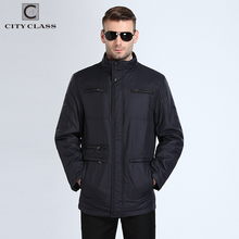 CITY CLASS 117 New Mens Autumn Jackets And Coats Classic Casual Long Stand Collar Jacket Free Shipment Black Blue Autumn Top(China)