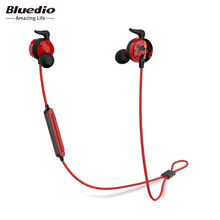 Bluedio AI Sports Bluetooth headset/Wireless earphone in-ear earbuds Built-in Mic Sweat proof good bass earbud(China)