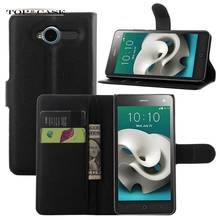 TUKE Book Design Mobile Phone Cover Case For ZTE Blade L3 PU Leather Cover Accessories With Card Holder Slot  SJ3073