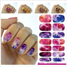 2017 Sale New Wholesale Water Transfer Foil Nails Sticker Red Flower Design Stickers Manicure Styling Tools Film Paper Decals