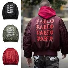 2016 Autumn Winter Jacket I feel like Paul Pablo The Life Of Pablo MA1 Bomber Jacket Brand Thick Warm Bomber Coat Men