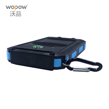 wopow Waterproof Solar Power Bank 10000mah Dual USB Li-Polymer Solar Battery Charger Travel Powerbank for all phone(China)
