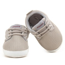 Newborn Baby Boy Shoes First Walkers Spring Autumn Baby Boy Soft Sole Shoes Infant Canvas Crib Shoes 0-18 Months(China)