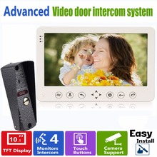 "10"" TFT Video Intercom Dual-way Door Monitor Video Door Phone Recorder System Supported CCTV Camera & SD/TF Card F1379B"