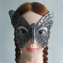 New Arrival silver Sexy butterfly Lady Lace Mask Cutout Eye Mask for Masquerade Party Fancy Dress Costume M176