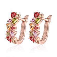New fashion clip on earrings Crystal Rhinestone Insect Butterfly Rose ear cuff clip earring jewelry gift for women girl Earrings(China)