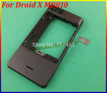 New Original Middle Plate Housing Cover Case For Motorola Droid X MB810 Free Shipping Black