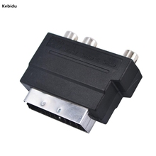kebidu 2016 New Arrival Hot Selling RGB Scart to Composite RCA S-Video AV TV Audio Adapter Brand New Wholesale(China)