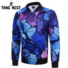 TANGNEST 2017 Spring Fashion Design Jacket Men Mandarin Collar Zipper Veste Homme Youth Personality Jacket MWJ2350