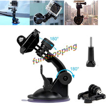 Gopro Accessories for SJ4000 Car Sucker Holder Suction Cup Mount for Gopro  Hero 4 3+ 3 2 1 Hd Mini Camcorder Action Camera
