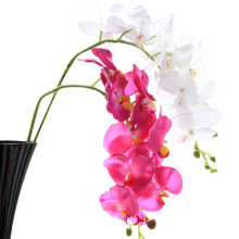 1Pcs Artificial Butterfly Orchid Silk Flower Home Wedding Party Decor Phalaenopsis(China)