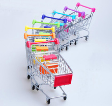 10pcs Supermarket Shopping Mini Trolley Cart Phone Holder Office Desk Storage Toy Cart Baby Toy Handcart Accessories