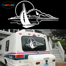 HotMeiNi Sunset Mountain Lake Leisure Arts Styling Pattern Car Sticker Truck Camper RV Outdoor Sports Glass Windows Vinyl Decal