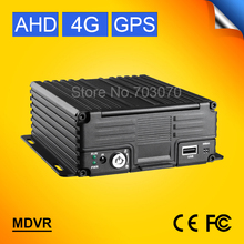 Good Quality H.264 720P HD Video Car Recorder With GPS Tracker I/O Alarm  CCTV Monitoring 4G LTE 4CH  HDD Car AHD Mobile Dvr