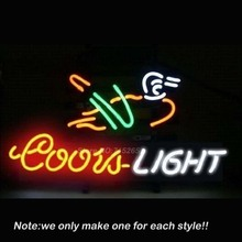 COORS LIGHT DUCK Neon Sign Recreation Room Art Design Handcraft Decorate Restaurant Lamp Neon Bulbs Store Display Gifts 17x14(China)