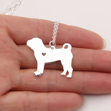 1pcs Shar Pei Necklace Cute Delicate Pendant Puppy Heart Dog Lover Memorial Pet Necklaces & Pendants Charms Christmas Gift