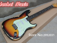 Hot Sale Custom Electric Guitar,In Old Style,White Pickguard,22 Frets,Vinatge Chrome Knobs,Maple Neck,can be Customized