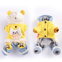 Kawaii Pet Shop Coat Jacket Cat Lace Border Hoodies Dog Jumpsuits Rompers Pet Clothes Dog Clothes for Dogs Hot Sale JGBB