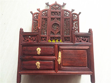 Redwood crafts ornaments factory direct imitation Ming and Qing furniture miniature model red wood furniture dresser Louhua