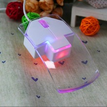 Newest Fashion Transparent 1.3m Wired Mouse Silent Gamer Colorful LED Power Saving Glow Gaming Mouse Mice for Laptop Desktop