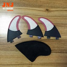 Fiberglass honeycomb surfboard FCS G5 fin with half carbon fin for surfing and paddling
