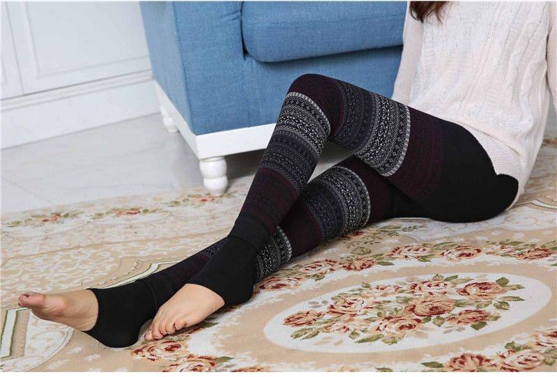 Winter Leggings, Women's High Waist Warm Leggings 9