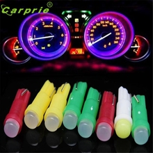 Car-styling 10PC T5 Car auto Cob Led white LED lamps Car Door LED Light Bulbs DEC 29#2