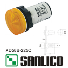 semi-conductive energy saving indicator(LED) AD58B(AD16 AD22 AD11 AD17)-225C(China)
