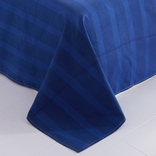 Sookie Blue Striped Bed Sheet Modern Style Bedclothes Flat Sheets Soft Bedding Cover Twin Full Queen King Size Bedspread(China)