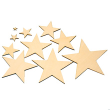 250mm Star Shape Wooden Embellishments Crafts Rustic Wedding Decoration Home Wall Decor - Nicexmas Storage Store store